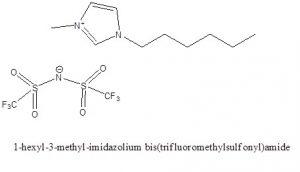 1-هگزیل-3-متیل ایمیدازولیوم بیس (تری فلوءورو متان سولفونیل)امید