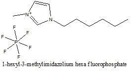 1-هگزیل-3-متیل ایمیدازولیوم هگزا فلوءورو فسفات